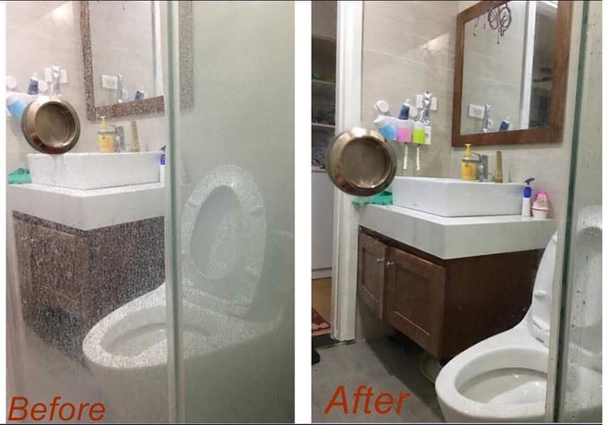 Hóa chất tẩy vách kính tắm